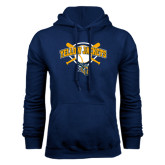 Navy Fleece Hoodie-Softball Bats and Plate Design