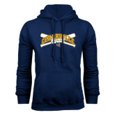 Navy Fleece Hoodie-Baseball Design