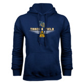 Navy Fleece Hoodie-Track and Field Design