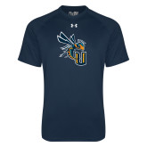 Under Armour Navy Tech Tee-CU with Yellow Jacket