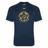 Under Armour Navy Tech Tee-Soccer Circle Design