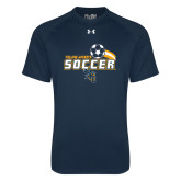 Under Armour Navy Tech Tee-Soccer Swoosh Design
