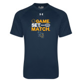 Under Armour Navy Tech Tee-Game Set Match Tennis Design
