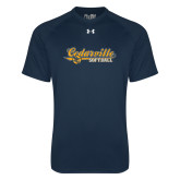 Under Armour Navy Tech Tee-Softball Design