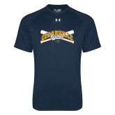 Under Armour Navy Tech Tee-Baseball Design