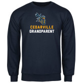 Navy Fleece Crew-Grandparent