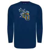 Under Armour Navy Long Sleeve Tech Tee-CU with Yellow Jacket