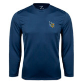 Syntrel Performance Navy Longsleeve Shirt-CU with Yellow Jacket