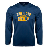 Performance Navy Longsleeve Shirt-Tee Off Golf Design