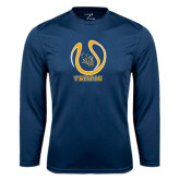 Performance Navy Longsleeve Shirt-Tennis Ball Design