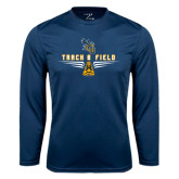 Syntrel Performance Navy Longsleeve Shirt-Track and Field Design