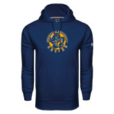 Under Armour Navy Performance Sweats Team Hoodie-Soccer Circle Design