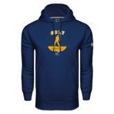 Under Armour Navy Performance Sweats Team Hoodie-Golf Golfer Design