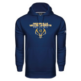 Under Armour Navy Performance Sweats Team Hoodie-Basketball Stacked Design