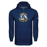 Under Armour Navy Performance Sweats Team Hoodie-Volleyball Stars Design