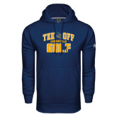 Under Armour Navy Performance Sweats Team Hoodie-Tee Off Golf Design