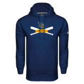 Under Armour Navy Performance Sweats Team Hoodie-Baseball Bats Design
