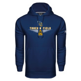 Under Armour Navy Performance Sweats Team Hoodie-Track and Field Design