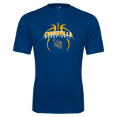 Performance Navy Tee-Basketball In Ball Design