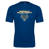 Performance Navy Tee-Basketball Stacked Design