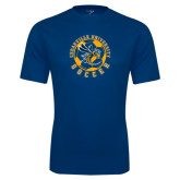 Performance Navy Tee-Soccer Circle Design