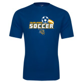 Performance Navy Tee-Soccer Swoosh Design