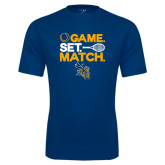 Syntrel Performance Navy Tee-Game Set Match Tennis Design