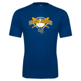 Syntrel Performance Navy Tee-Softball Bats and Plate Design
