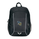 Atlas Black Computer Backpack-CU with Yellow Jacket