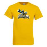Gold T Shirt-Official Logo Distressed