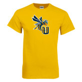 Gold T Shirt-CU with Yellow Jacket