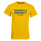 Gold T Shirt-Cedarville University EST. 1887