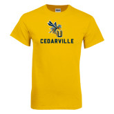 Gold T Shirt-CU Cedarville with Yellow Jacket
