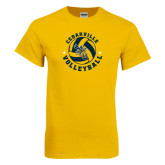 Gold T Shirt-Volleyball Stars Design