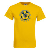 Gold T Shirt-Soccer Circle Design