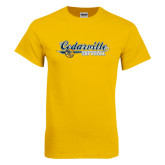 Gold T Shirt-Softball Design