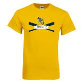Gold T Shirt-Baseball Bats Design