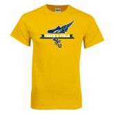 Gold T Shirt-Track and Field Side Shoe Design