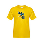 Youth Gold T Shirt-CU with Yellow Jacket