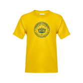 Youth Gold T Shirt-Cedarville University Seal