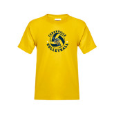 Youth Gold T Shirt-Volleyball Stars Design