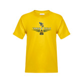 Youth Gold T Shirt-Track and Field Design