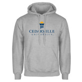 Grey Fleece Hoodie-Cedarville University