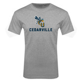 Grey T Shirt-CU Cedarville with Yellow Jacket