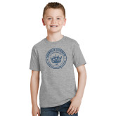 Youth Grey T-Shirt-Cedarville University Seal