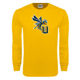 Gold Long Sleeve T Shirt-CU with Yellow Jacket