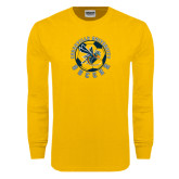Gold Long Sleeve T Shirt-Soccer Circle Design