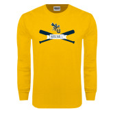 Gold Long Sleeve T Shirt-Baseball Bats Design