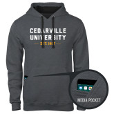 Contemporary Sofspun Charcoal Heather Hoodie-Cedarville University EST. 1887