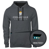 Contemporary Sofspun Charcoal Heather Hoodie-Cedarville University